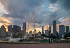 Buckingham fountain in Grant Park, Chicago Stock Image