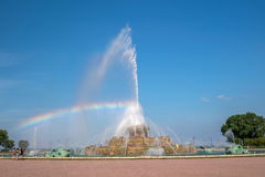 Buckingham fountain in Grant Park, Chicago, USA Royalty Free Stock Images