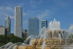 Buckingham Fountain on a Sunny Day Stock Photo