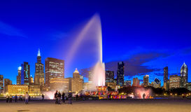 Buckingham fountain at twilight Royalty Free Stock Photo