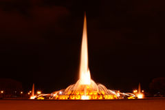 Buckingham Memorial Fountain. In Grant Park, Chicago at Night Stock Images