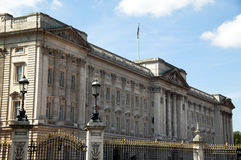 Buckingham Palace. Has long been the main royal residence of the reigning monarch of  the British realm Royalty Free Stock Images