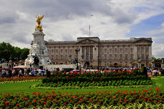 Buckingham palace. Has long been the main royal residence of the reigning monarch of the British realm Stock Images