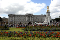 Buckingham Palace. Tourists leave Buckingham Palace after watching the changing of the guard Royalty Free Stock Photo