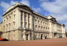 Buckingham Palace. Situated at the end of The Mall in London's Whitehall is the official royal residence of the reigning monarch of Great Britain Royalty Free Stock Image