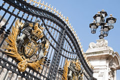 Buckingham Palace. Decorated metal gate of Buckingham Palace,  London Royalty Free Stock Image