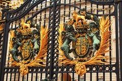 Buckingham palace door decoration London UK Stock Images