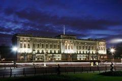 Buckingham Palace alla notte Fotografia Stock
