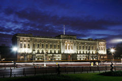 Buckingham Palace bij Nacht Stock Fotografie