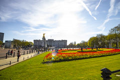 Buckingham Palace in the City of Westminster in London Stock Image