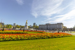 Buckingham Palace in the City of Westminster in London Royalty Free Stock Photos