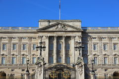 Buckingham Palace. A closer shot of Buckingham Palace stock photo