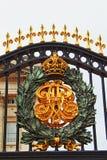 Buckingham palace door decoration detail  London UK Royalty Free Stock Photography