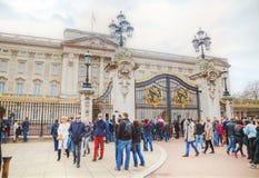 Buckingham Palace en Londres, Gran Bretaña Foto de archivo libre de regalías