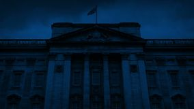 Buckingham Palace Front At Night stock footage