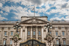 Buckingham Palace. Front view of the Portland stone façade of Buckingham Palace, London's residence of the British Monarch royalty free stock image