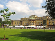 Buckingham Palace garden view Royalty Free Stock Photo