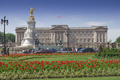 Buckingham Palace and gardens in a clear day Stock Photo