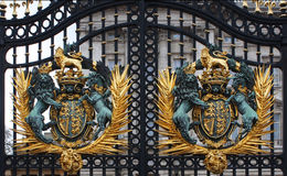 Buckingham Palace Gates. Detail close up Stock Image