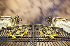Buckingham Palace Gates at night Royalty Free Stock Photography