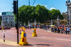 Buckingham Palace guard in London, UK stock image