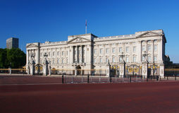 Buckingham Palace i London Arkivfoto