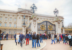 Buckingham Palace i London, Storbritannien Royaltyfri Foto