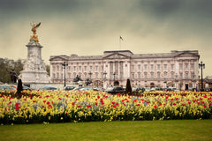 Buckingham Palace i London, UK Arkivfoto