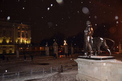 Buckingham Palace i Snowcentralen London 18th Januari 2013 Arkivfoton