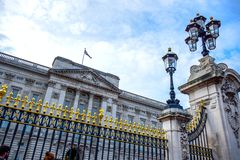 Buckingham Palace located in the city of Westminster, United Kingdom royalty free stock photos