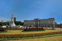 Buckingham Palace in Londen Royalty-vrije Stock Afbeelding