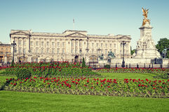 Buckingham Palace, London. Panoramic picture of Buckingham Palace and Victoria Memorial, London. ( outside Buckingham Palace Royalty Free Stock Photos