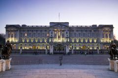 Buckingham Palace, London. Buckingham Palace at twilight, London Royalty Free Stock Images
