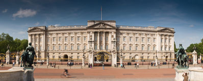 Buckingham Palace, London. Panoramic picture of Buckinham Palace, London stock photography