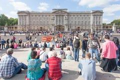 Buckingham Palace London england Royalty Free Stock Photo