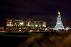 Buckingham palace in London, Great Britain. At night stock photo