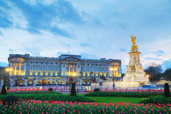 Buckingham palace in London, Great Britain. At sunset Royalty Free Stock Images