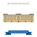 Buckingham Palace London Great Britain United Kingdom vector Stock Photography