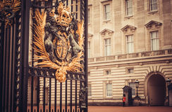 Buckingham palace, London - Guarding old values stock image