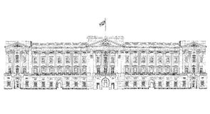 Buckingham palace  London, sketch collection, Buckingham palace gate. Buckingham palace  London. London, sketch collection Stock Photography