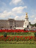 Buckingham Palace in Summer in London stock photo