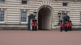 Buckingham Palace in London stock video footage
