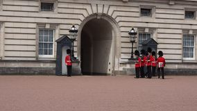 Buckingham Palace in London stock video
