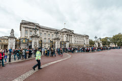 Buckingham Palace in London, UK. Royalty Free Stock Photo