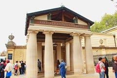 Buckingham Palace Londres R-U d'entrée de galerie du ` s de reine Photos stock