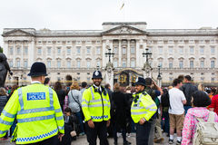 London. Multicultural London, Buckingham Palace metropolitan police force. Buckingham Palace demonstrating diversity of London police force. Multicultural stock photos