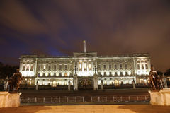 Buckingham Palace at Night. Buckingham Palace has served as the official London residence of British monarch since 1837 Stock Image