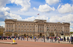 Buckingham Palace the official residence of Queen Elizabeth II and one of the major tourist destination. LONDON, UK - MAY 14, 2014: Buckingham Palace the royalty free stock photo
