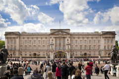 Buckingham Palace the official residence of Queen Elizabeth II and one of the major tourist destination. LONDON, UK - MAY 14, 2014: Buckingham Palace the royalty free stock images