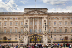 Buckingham Palace the official residence of Queen Elizabeth II and one of the major tourist destination. LONDON, UK - MAY 14, 2014: Buckingham Palace the stock images